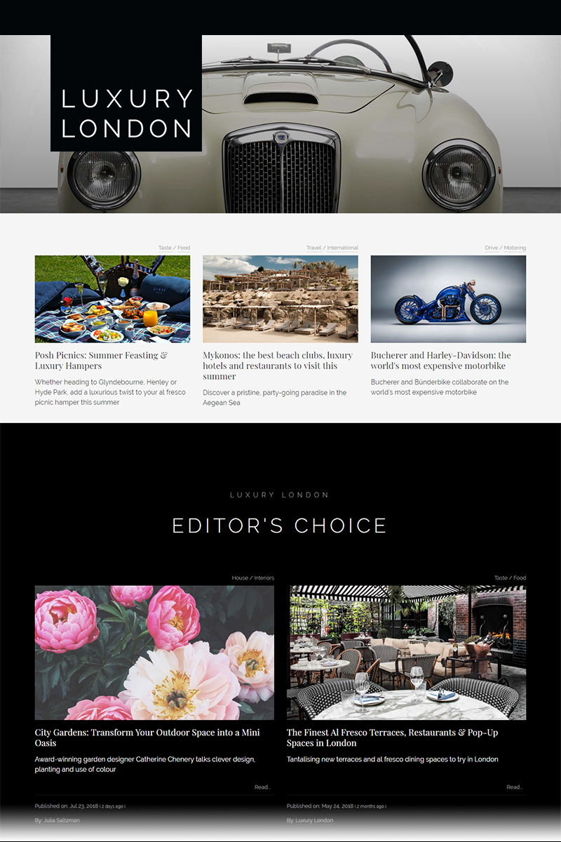 Luxury London Newsletter (Digital)